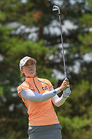Brittany Altomare (USA) watches her tee shot on 3 during round 3 of the 2018 KPMG Women's PGA Championship, Kemper Lakes Golf Club, at Kildeer, Illinois, USA. 6/30/2018.<br /> Picture: Golffile | Ken Murray<br /> <br /> All photo usage must carry mandatory copyright credit (&copy; Golffile | Ken Murray)
