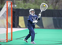 College Park, MD - April 19, 2018: Penn State Nittany Lions Lucy Lowe (16) passes the ball during game between Penn St. and Maryland at  Field Hockey and Lacrosse Complex in College Park, MD.  (Photo by Elliott Brown/Media Images International)