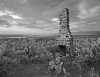 F00010L.tiff  Chimney remnants of old stagecoach stop. Near Summer Lake, Oregon.