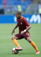 Calcio, Serie A: Roma vs Sampdoria. Roma, stadio Olimpico, 11 settembre 2016.<br /> Roma&rsquo;s Bruno Peres in action during the Italian Serie A football match between Roma and Sampdoria at Rome's Olympic stadium, 11 September 2016. Roma won 3-2.<br /> UPDATE IMAGES PRESS/Isabella Bonotto