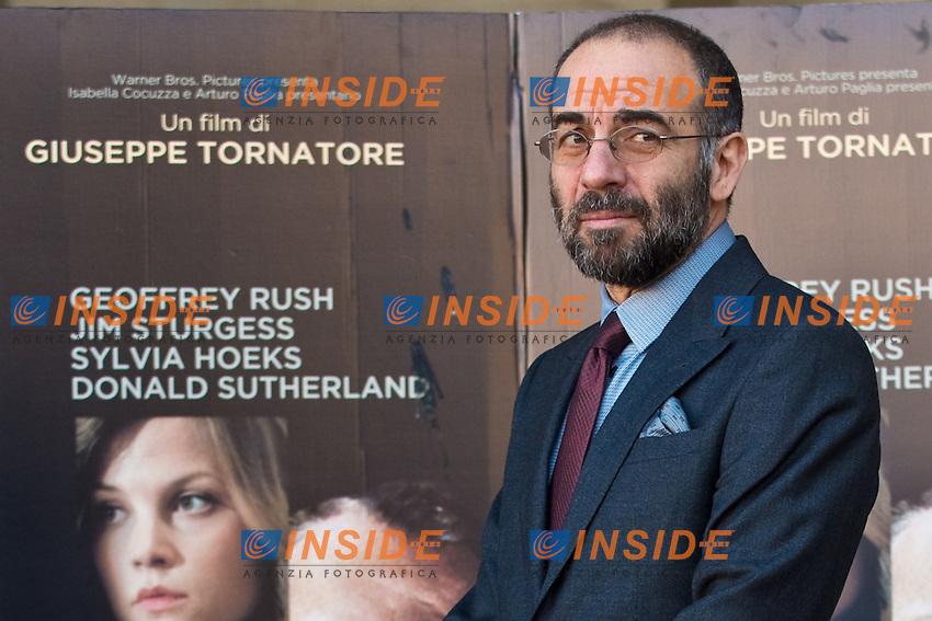 Giuseppe Tornatore Director .Roma 28/12/2012 Cinema The Space Moderno.'La migliore offerta'  Photocall.Foto Andrea Staccioli / Insidefoto