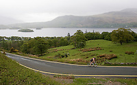 16 MAY 2009 - KESWICK,GBR - A competitor makes his way along the side of Derwent Water during the Keswick Mountain Festival Triathlon (PHOTO (C) NIGEL FARROW)