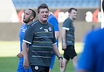 FC Luzern v St Johnstone...16.07.14  Europa League 2nd Round Qualifier<br /> Tommy Wright pictured during training at the Swissporarena ahead of tomorrow's game against FC Luzern<br /> Picture by Graeme Hart.<br /> Copyright Perthshire Picture Agency<br /> Tel: 01738 623350  Mobile: 07990 594431