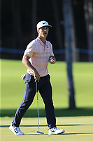 Thorbjorn Olesen (DEN) on the 16th green during Friday's Round 2 of the 2018 Turkish Airlines Open hosted by Regnum Carya Golf &amp; Spa Resort, Antalya, Turkey. 2nd November 2018.<br /> Picture: Eoin Clarke | Golffile<br /> <br /> <br /> All photos usage must carry mandatory copyright credit (&copy; Golffile | Eoin Clarke)