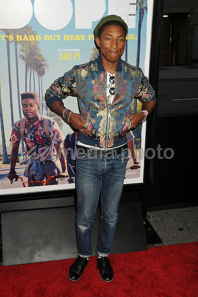 "8 June 2015 - Los Angeles, California - Pharrell Williams. LA Film Festival 2015 Premiere of ""Dope"" held at Regal Cinemas L.A. Live. Photo Credit: Byron Purvis/AdMedia"