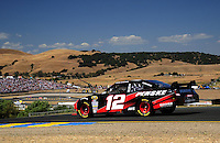 Jun. 21, 2009; Sonoma, CA, USA; NASCAR Sprint Cup Series driver David Stremme during the SaveMart 350 at Infineon Raceway. Mandatory Credit: Mark J. Rebilas-