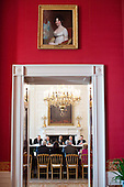 United States President Barack Obama, seen from the Red Room of the White House, meets with the Conference of Presidents of Major American Jewish Organizations in the State Dining Room, March 1, 2011. .Mandatory Credit: Pete Souza - White House via CNP