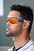 March 20, 2010:  Outfielder Angel Pagan of the New York Mets during a Spring Training game at Roger Dean Stadium in Jupiter, FL.  Photo By Mike Janes/Four Seam Images