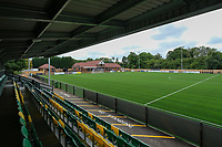 General view from the main stand ahead of the first match at the new ground. Horsham vs Hartley Wintney, Friendly Match Football at Hop Oast on 13th July 2019