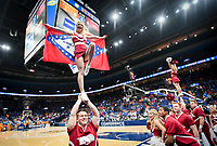NWA Democrat-Gazette/CHARLIE KAIJO Arkansas Razorbacks cheerleaders perform during the Southeastern Conference Men's Basketball Tournament semifinals, Saturday, March 10, 2018 at Scottrade Center in St. Louis, Mo. The Tennessee Volunteers knocked off the Arkansas Razorbacks 84-66