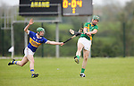 Ahane Niall Moran &amp; Patrickswell Nigel Foley in action during their Senior Hurling Championship Round 1 Game played in Bruff Co.Limerick.<br /> Pictured Credit Brian Gavin Press 22