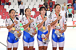 Korea team group (KOR), <br /> AUGUST 28, 2018 - Cycling - Track : Women's Team Pursuit Victory ceremony at Jakarta International Velodrome during the 2018 Jakarta Palembang Asian Games in Jakarta, Indonesia. <br /> (Photo by MATSUO.K/AFLO SPORT)