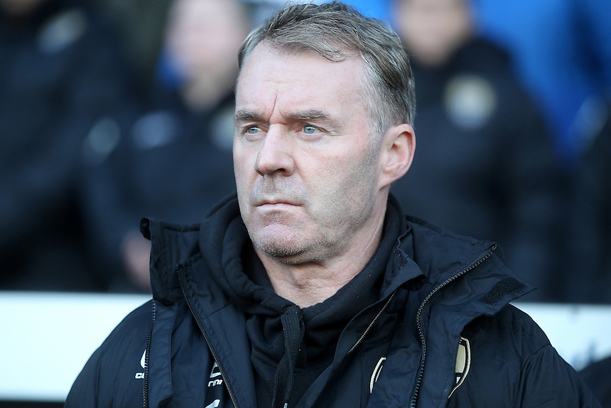 Notts County's Manager John Sheridan <br /> <br /> Photographer Mick Walker/CameraSport<br /> <br /> The Emirates FA Cup Second Round - Notts County v Peterborough United - Sunday 4th December 2016 - Meadow Lane - Nottingham<br />  <br /> World Copyright &copy; 2016 CameraSport. All rights reserved. 43 Linden Ave. Countesthorpe. Leicester. England. LE8 5PG - Tel: +44 (0) 116 277 4147 - admin@camerasport.com - www.camerasport.com