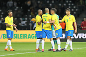 27th March 2018, Olympiastadion, Berlin, Germany; International Football Friendly, Germany versus Brazil; Célebration from the players of Brazil at the final whistle