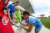 Bridgeview, IL - Saturday June 17, 2017: Fans, Sarah Gorden during a regular season National Women's Soccer League (NWSL) match between the Chicago Red Stars and the Washington Spirit at Toyota Park. The match ended in a 1-1 tie.