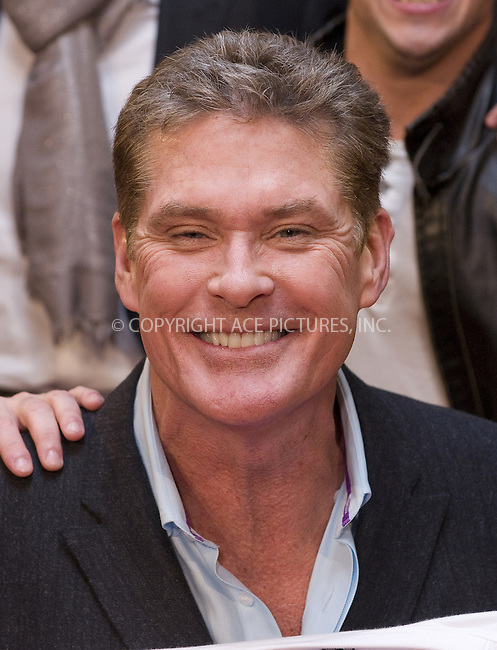 WWW.ACEPIXS.COM . . . . .  ..... . . . . US SALES ONLY . . . . .....November 24 2011, Madrid....David Hasselhoff at the 'Fuga de Cerebros 2' premiere at Callao cinema on November 24 2011 in Madrid....Please byline: FD/ACE Pictures, Inc.... . . . .  ....Ace Pictures, Inc:  ..Tel: (212) 243-8787..e-mail: info@acepixs.com..web: http://www.acepixs.com