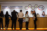 Suppliers attend the C&A Global Supplier Conference at the Kowloon Shangri-La Hotel on September 25, 2014 in Hong Kong, China. Photo by Moses NG / studioEAST