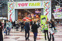 The 110th American International Toy Fair in the Jacob Javits Convention center in New York on Monday, February 11, 2013.  The four day trade show connects buyers and sellers and is expected to draw tens of thousands of attendees.  The toy industry generates  $21.87 billion in the United States and Toy Fair is the largest toy trade show in the Western Hemisphere. (© Richard B. Levine)