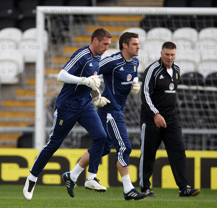 Allan McGregor and Matt Gilks with coach Jim Stewart