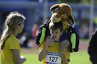 ATLETIEK: HEERENVEEN: 19-09-2015, Athletics Champs AV Heerenveen, Stijn van Deutekom (AV Lionitas | #127 | 10 jaar), ©foto Martin de Jong