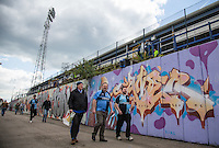 Wycombe supporters arrive during the Sky Bet League 2 match between Portsmouth and Wycombe Wanderers at Fratton Park, Portsmouth, England on 23 April 2016. Photo by Andy Rowland.