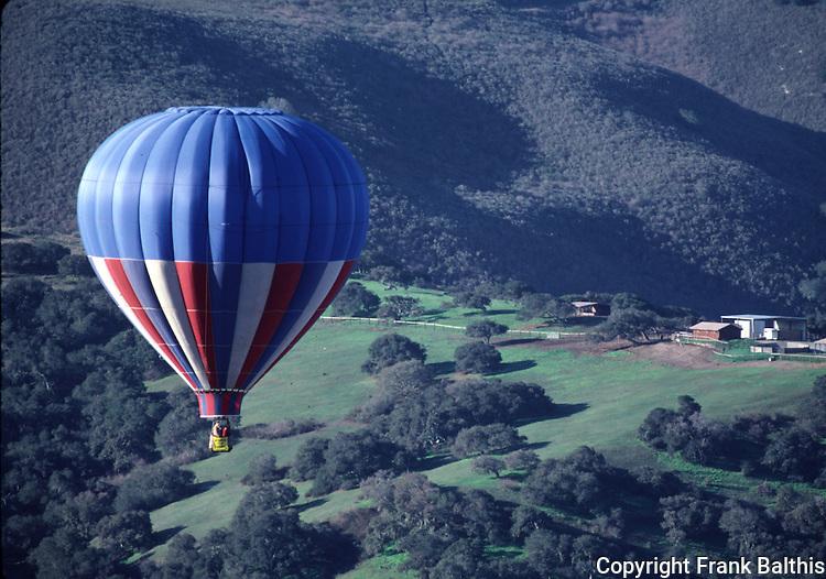 Hot air balloon over Monterey County