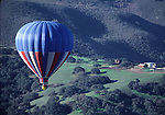 Hot air balloon over Monterey County