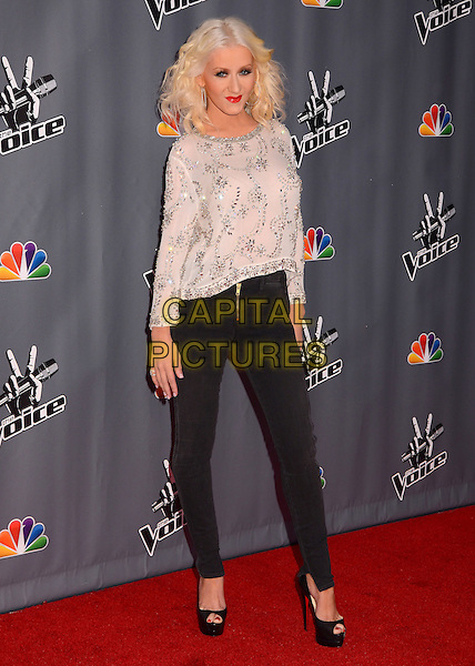 07 November  2013 - Los Angeles, California - Christina Aguilera &quot;The Voice&quot; Season 5 Top 12 red carpet event held at Universal Studios in Los Angeles, Ca.  <br /> CAP/ADM/BT<br /> &copy;Birdie Thompson/AdMedia/Capital Pictures