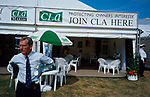 Country Land Owners stand (CLA). CLA official.<br />