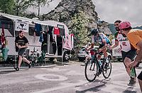 Ruben Plaza (ESP/Israel Cycling Academy) up the final climb to Pratonevoso<br /> <br /> stage 18: Abbiategrasso - Pratonevoso (196km)<br /> 101th Giro d'Italia 2018