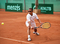 Netherlands, Amstelveen, August 21, 2015, Tennis,  National Veteran Championships, NVK, TV de Kegel,  Adnan Hoesintalib<br /> Photo: Tennisimages/Henk Koster