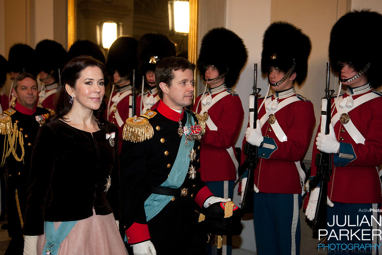 Crown Prince Frederik, and Crown Princess Mary of Denmark, attend the Grand New Years Court at Christiansborg Palace, in Copenhagen, Denmark.