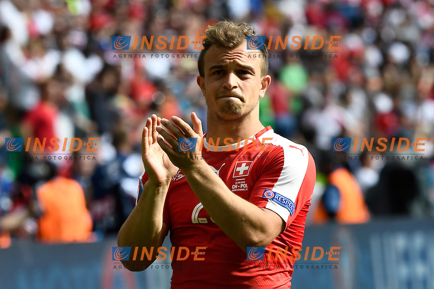 Xherdan Shaqiri (SUI) reacts after the defeat Delusione <br /> Saint Etienne 25-06-2016 Stade Geoffroy Guichard Football Euro2016 Switzerland - Poland / Svizzera - Polonia Round of 16. Foto Alain Grosclaude/freshfocus / Insidefoto