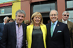 American Ambassador Kevin O'Malley  with from left,  Billy Keane, lcoal writer and mary Deenihan, wife of Minister Jimmy Deenihan pictured at the unveiling of a plaque to Listowel woman Kathy Buckey, who was cook to three US presidents in The White House and was honoured at the Listowel Food Fair on Thursday night. The Listowel Food Fair continues over the weekend.<br /> Picture by Don MacMonagle<br /> <br /> REPRO FREE PHOTO FROM  LISTOWEL FOOD FAIR