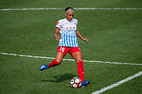 Kansas City, MO - Saturday September 9, 2017: Samantha Johnson during a regular season National Women's Soccer League (NWSL) match between FC Kansas City and the Chicago Red Stars at Children's Mercy Victory Field.