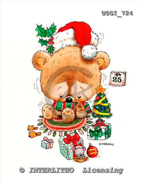 GIORDANO, CHRISTMAS ANIMALS, WEIHNACHTEN TIERE, NAVIDAD ANIMALES, paintings+++++,USGI724,#XA#