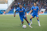 Callum Harriott of Colchester United on the attack during Colchester United vs Plymouth Argyle, Sky Bet EFL League 2 Football at the JobServe Community Stadium on 8th February 2020