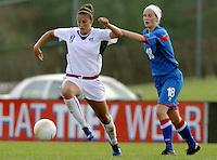 Carli lloyd vs Katrin Jonsdottir,.USWNT vs Iceland at UR Stadium in Richmond, Virginia.