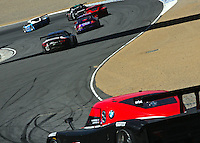 May 17, 2009: A pack of cars winds through some turns at the Verizon Festival of Speed Grand-Am Rolex Series race at Mazda Raceway at Laguna Seca  in Salinas, CA.(Photo by Brian Cleary/www.bcpix.com)