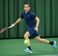 Rotterdam, The Netherlands, March 13, 2016,  TV Victoria, NOJK 12/16 years, Steffan van Weldam (NED)<br /> Photo: Tennisimages/Henk Koster