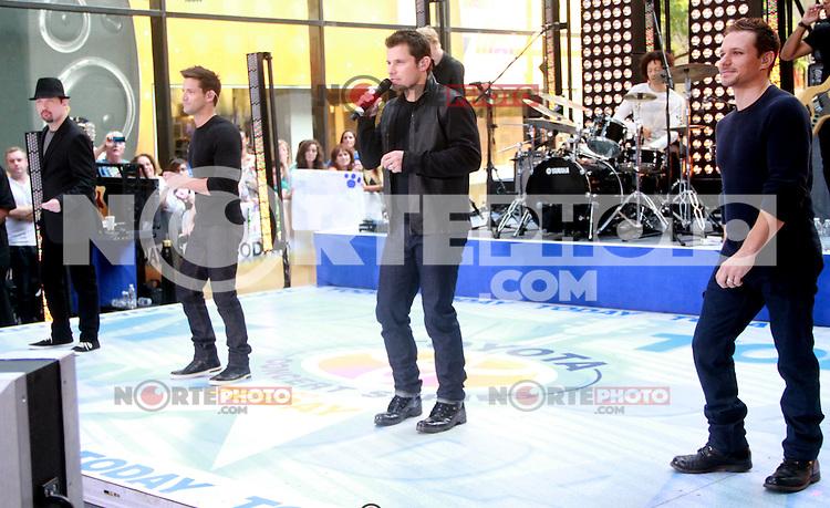 August 17, 2012  Justin Jeffre, Jeff Timmons, Nick Lachey, Drew Lachey 98 Degrees perform on the NBC's Today Show Toyota Concert Serie at Rockefeller Center in New York City.Credit:© RW/MediaPunch Inc. /NortePhoto.com<br /> <br /> **SOLO*VENTA*EN*MEXICO**<br />  **CREDITO*OBLIGATORIO** *No*Venta*A*Terceros*<br /> *No*Sale*So*third* ***No*Se*Permite*Hacer Archivo***No*Sale*So*third*