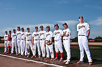 24 May 2009: Team La Guerche poses prior to a game against Senart during the 2009 challenge de France, a tournament with the best French baseball teams - all eight elite league clubs - to determine a spot in the European Cup next year, at Montpellier, France. Senart wins 8-5 over La Guerche.