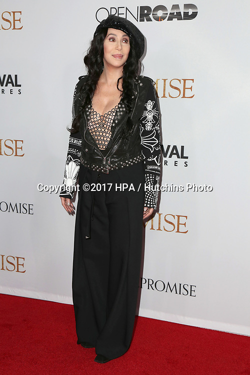 """LOS ANGELES - APR 12:  Cher at the """"The Promise"""" Premiere at the TCL Chinese Theater IMAX on April 12, 2017 in Los Angeles, CA"""