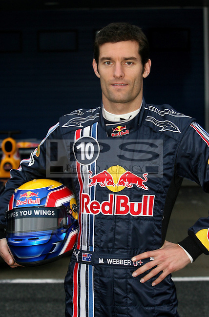 ©Jean-Francois Galeron/WRI2/TEAMSHOOT - Jerez de la Frontera Spain 16/01/2008 ; Red Bull RB4 Launch 16/01/08 ; Mark Webber (AUS), Red Bull Racing. Circuito de Jerez.....***************************************..GERMANY, AUSTRALIA, FINLAND,..ITALY and SWITZERLAND OUT..***************************************..© MaxPPP / IPS PHOTO AGENCY ..ONLY UK..FOR ANY INFO'S PLEASE CONTACT:..IPS photo..21 Delisle rd.. London SE28 0JD..TEL 004420883310207..FAX 00442088551037..Mob: 00447973308835....ONLY UK ONLY UK ONLY UK ONLY UK ..