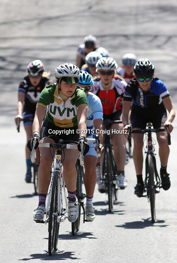 The Women's C of the Penn State Frat Row Criterium of the Eastern Collegiate Cycling Conference Championships on April 26, 2015. Photo/© 2015 Craig Houtz