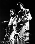 ERIC CLAPTON 1973 with Pete Townshend. Rainbow Theatre<br /> &copy; Chris Walter