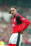 Jason Lee of Nottingham Forest - Premier League - Nottingham Forest v Liverpool - City Ground - Nottingham - England - 23rd March 1996 - Picture Simon Bellis/Sportimage
