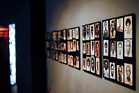 RWANDA Kigali, Genocide memorial, during the genocide in april 1994 nearly one Million Tutsi were killed by Hutu murder, display of historical images of murdered Tutsi / RUANDA Kigali , Genozid Gedaenkstaette, Ausstellung und Mahnmal fuer die Opfer des Genozid  , waehrend des Voelkermord wurden ca. eine Million Tutsi im April 1994 von Hutu Milizen ermordet , historische Fotos von ermordeten Tutsi