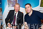 Pictured at the Tralee Enterprise Town Community, Sport and Business Expo at Tralee Sports Complex on Saturday morning last, were Micheál Ó Muircheartaigh and Darragh Ó Sé.