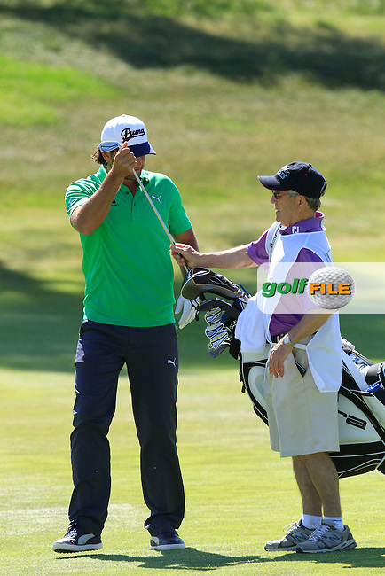 Johan Edfors (SWE) on the 2nd during Round 2 of the Open de Espana  in Club de Golf el Prat, Barcelona on Friday 15th May 2015.<br /> Picture:  Thos Caffrey / www.golffile.ie